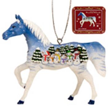 Peppermint Twist Ornament with Tin Painted Ponies